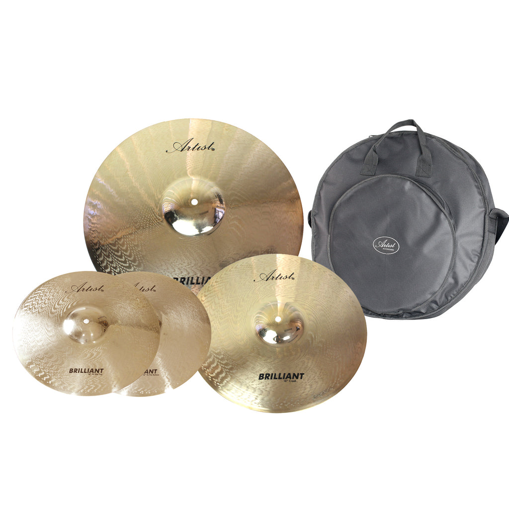 Artist BPK Brilliant Series Cymbal Pack + Bag