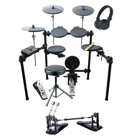 Artist EDK260 Electric 8 Piece Electronic Drum Kit + Double Kick Pedal
