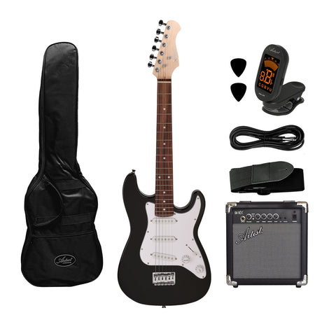 Artist MiniS 3/4 Size Electric Guitar + Accessories +10 Watt Amp