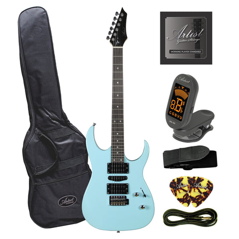 Artist AG45 Sonic Blue Electric Guitar Plus Accessories
