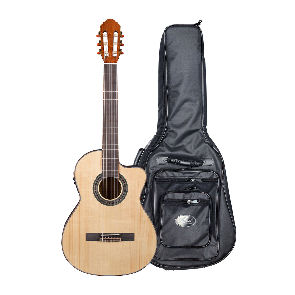 Artist CS180CEQ Solid Spruce Top Classical Guitar with EQ + Bag