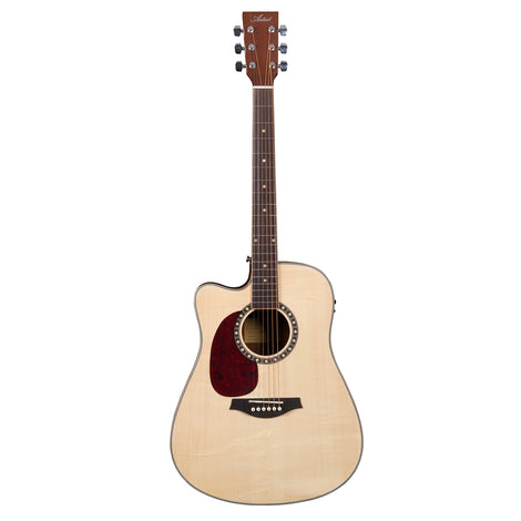 Artist D75CEQL Left Handed Electro-Acoustic Guitar Solid Spruce Top