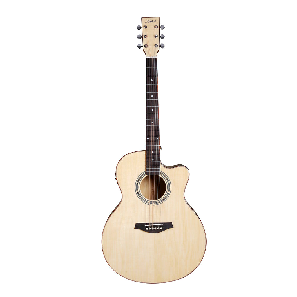 Artist JB300NT Acoustic Guitar Solid Top Jumbo-Large with EQ