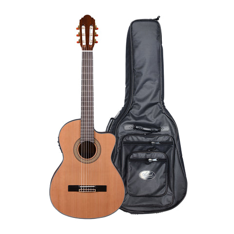 Artist HG39303CEQ Classical Guitar Cutaway Solid Cedar Top + EQ + HG Bag