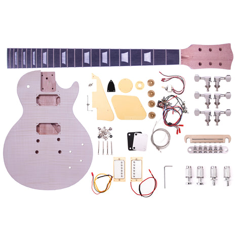 Artist LPFDIY Classic Flame Do it Yourself Guitar Kit