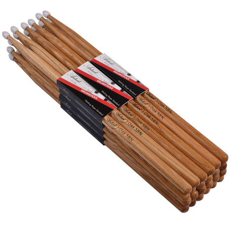 Artist DSO5BN Oak Drumsticks with Nylon Tips 12 Pack