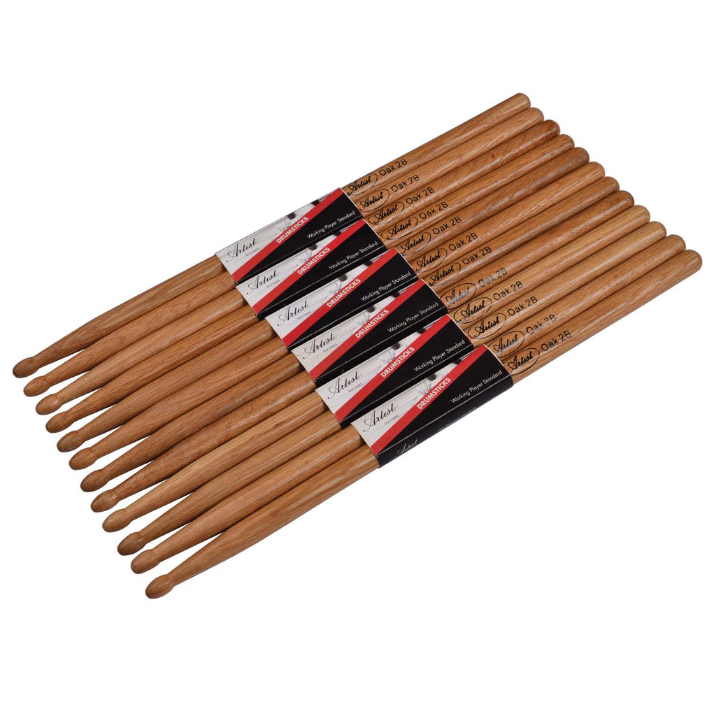 Artist DSO2B Oak Drumsticks with Wooden Tips 6 Pairs
