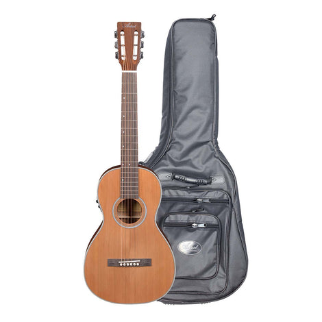 Artist OS60EQ Parlour Electro-Acoustic Guitar Solid Top + HG Bag