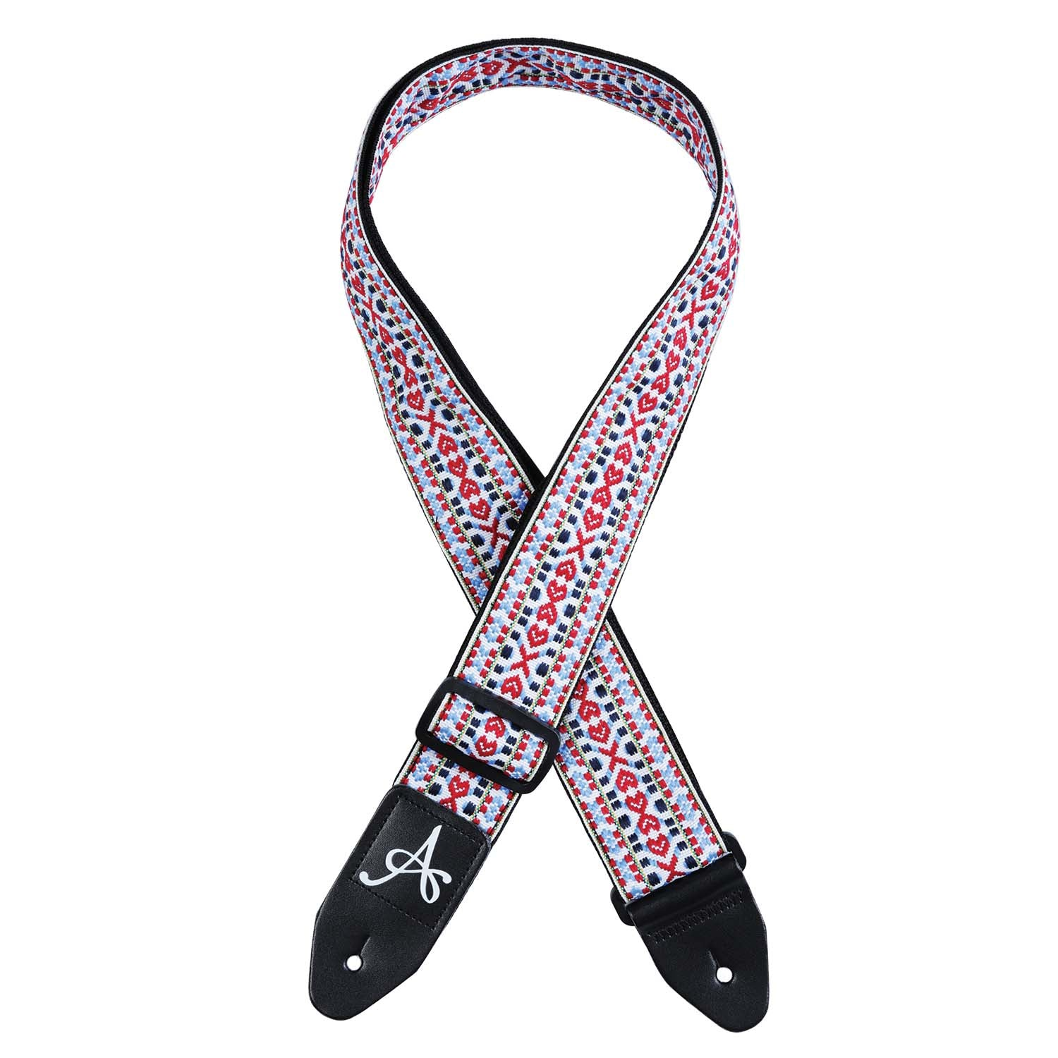 Artist GSJWH White Weave Adjustable Jacquard Guitar Strap