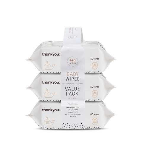 Thick & Soft Baby Wipes | 3x 80 pack