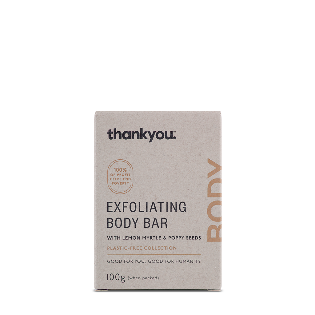 Exfoliating Body Bar with Lemon Myrtle and Poppy Seeds | 100g