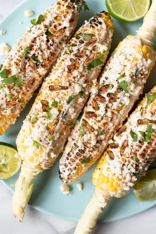 elotes with chile lime crickets