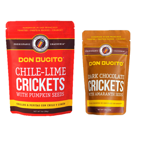 CHILE-LIME + CHOCOLATE CRICKETS [COMBO 1]