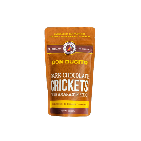 CHOCOLATE COVERED CRICKETS with AMARANTH SEEDS