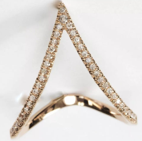 "14k ""V"" Stacking Rings"