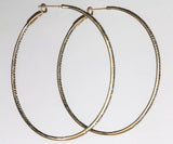 Diamond Micro Pave' Hoops 14k Rose Gold