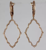 Moroccan 14k Rose Gold Pave' Diamond Earrings