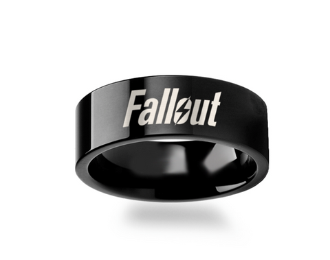 Fallout 4 Tungsten Ring 4mm - 12mm