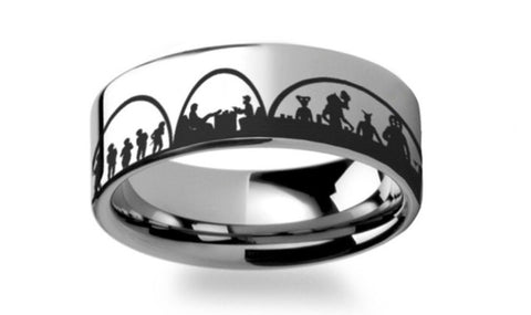 Star Wars  Mos Eisley Polished Tungsten Carbide Ring
