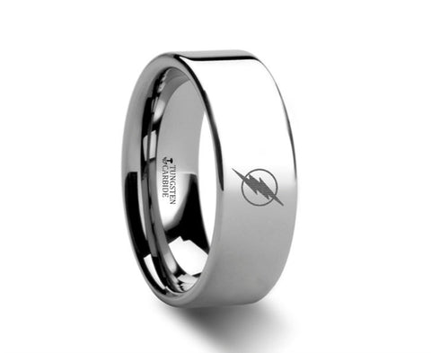 The Flash Tungsten Engraved Ring Jewelry - 4mm - 8mm