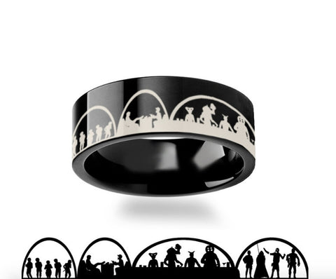 Star Wars  Black Mos Eisley Tungsten Carbide Ring