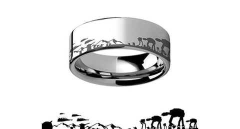 Battle of Hoth Men's 8mm Tungsten Ring