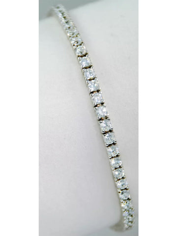 6 ct Lab Created Diamond Round Brilliant Tennis Bracelet set in 14k solid white gold