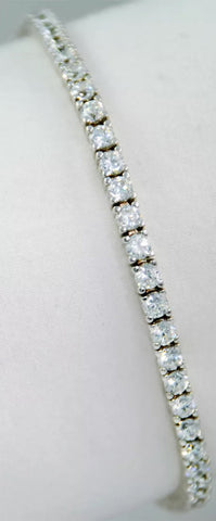 6 ct Lab Created Diamond Round Brilliant Tennis Bracelet