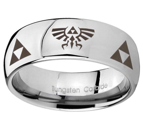 Triforce Legend of Zelda 8mm Tungsten Men's Wedding Band Ring