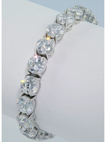 42ct Lab Created Diamond Round Brilliant Tennis Bracelet