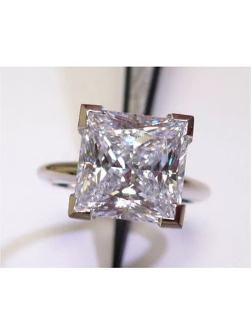 3ct Princess Cut Lab Created Diamond Solitaire Engagement/Right Hand Ring Set in 14k White Gold
