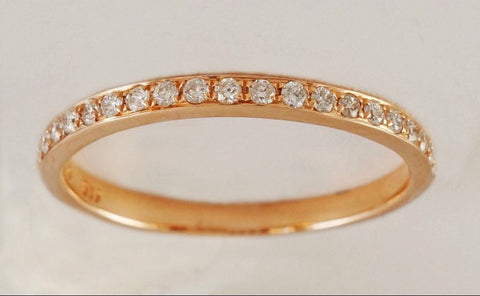14k gold 0.19ct natural diamond stackable eternity/wedding/anniversary ring.