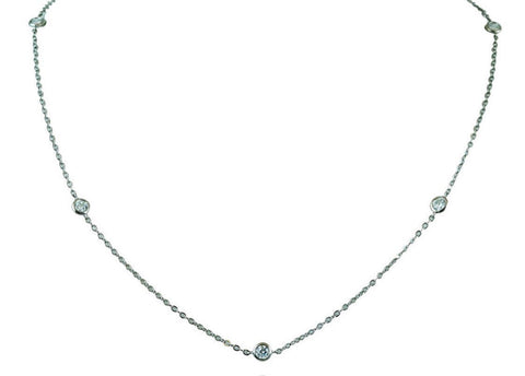 Diamonds by the yard style necklace
