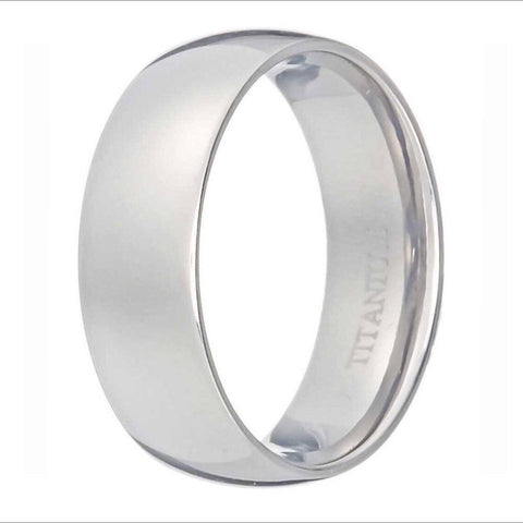 8mm Men's Titanium Wedding Band.