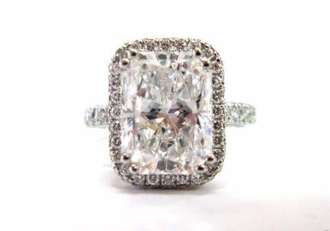 2.50ct lab created radiant cut diamond set in solid 14k white gold.