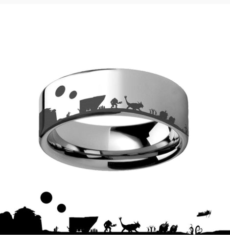 Tatooine Star Wars New Hope Jawas Jabba's Palace Tungsten Carbide Ring.