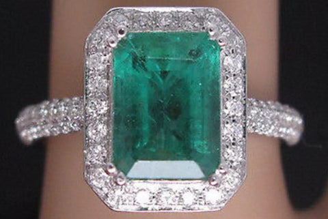 Emerald Engagement Ring.
