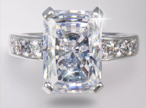 9ct brilliant radiant cut lab diamond engagement ring