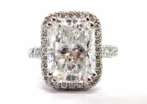 2.5ct Radiant Cut Moissanite Engagement Ring