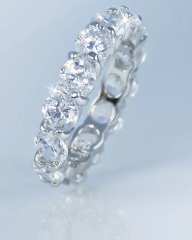 6ct Round Brilliant Lab Created Diamond Eternity Band