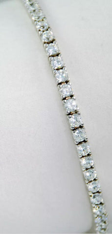 14k Gold 6ct Lab Created Diamond Tennis Bracelet