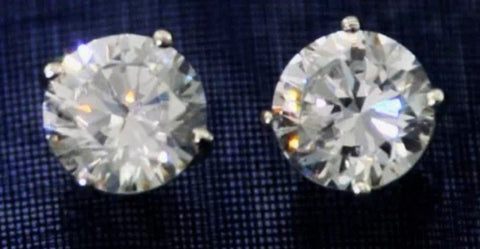 2ct Lab Created Diamond Stud Earrings