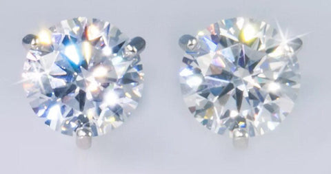 1ct Lab Created Diamond Round Brilliant Stud Earrings