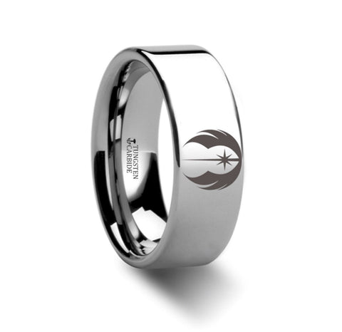 Star Wars Jedi Knight Tungsten Carbide Wedding Band 8mm