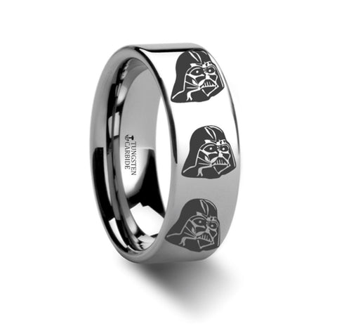 Star Wars Darth Vader Tungsten Carbide Wedding Band 8mm