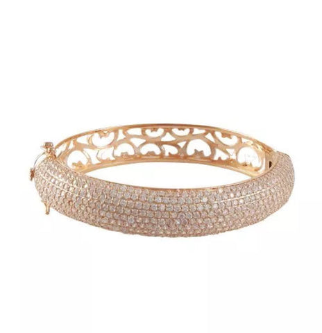 60mm Lab Created Diamond Pave' Filigree Bangle