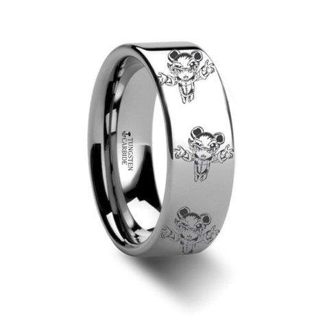 Annie The Dark Child Tungsten Engraved Ring League of Legends 8mm