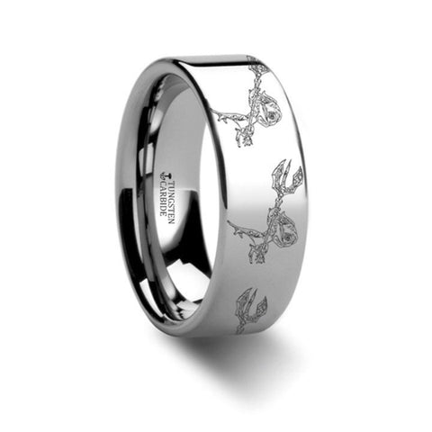 Fizz The Tidal Trickster Tungsten Engraved Ring League of Legends Gift - 8mm
