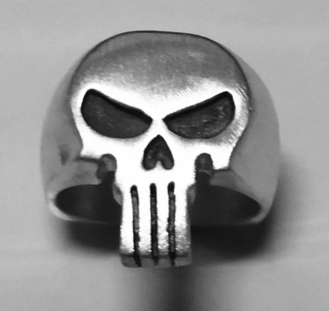 Men's Sterling Silver Satin Finish Punisher Ring