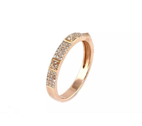 14k studded stacking ring